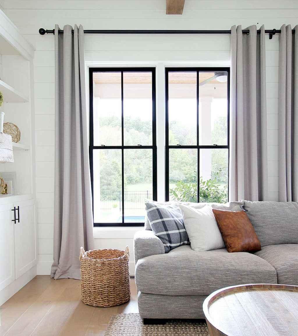 48 best modern farmhouse living room curtains decor ideas
