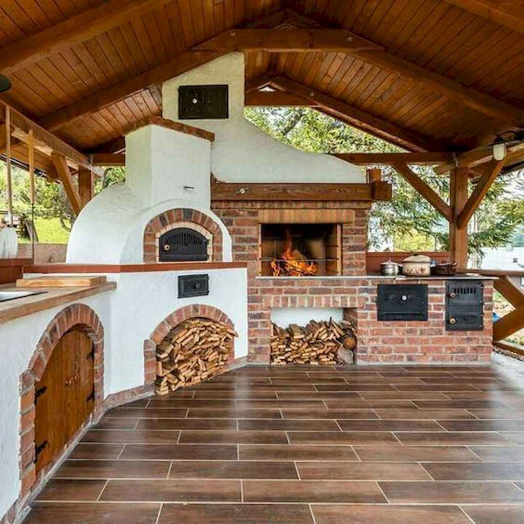 49 fantastic outdoor kitchen design for your summer ideas