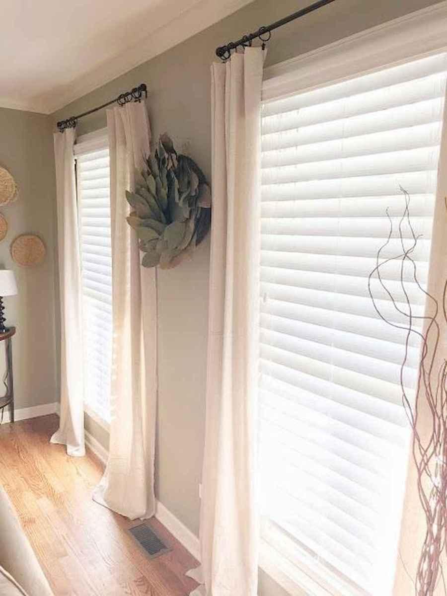 51 best modern farmhouse living room curtains decor ideas