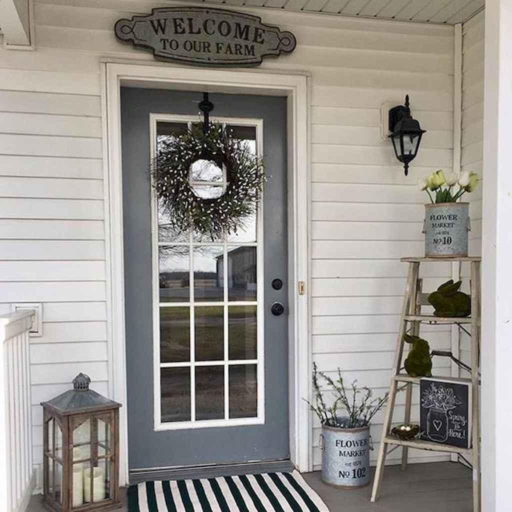 53 beautiful spring front porch decorating ideas