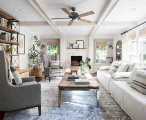 55 best modern farmhouse living room curtains decor ideas