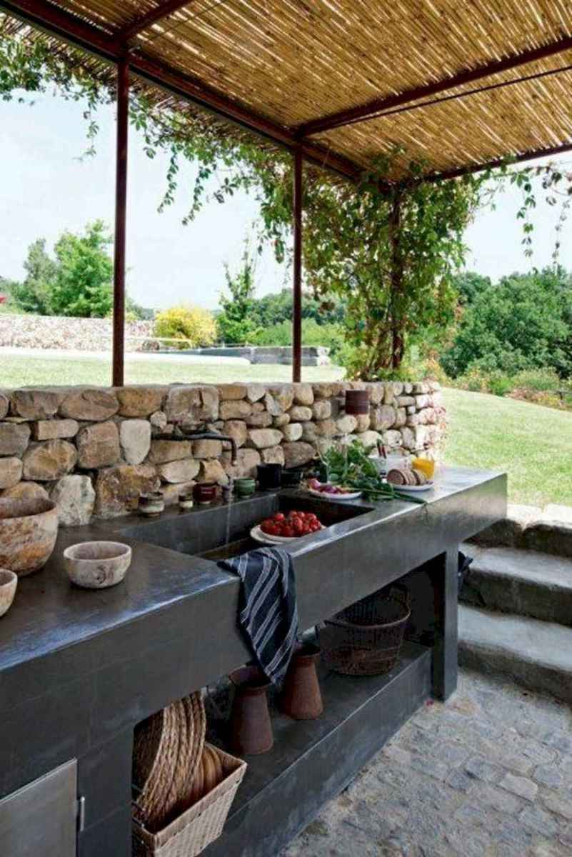68 fantastic outdoor kitchen design for your summer ideas