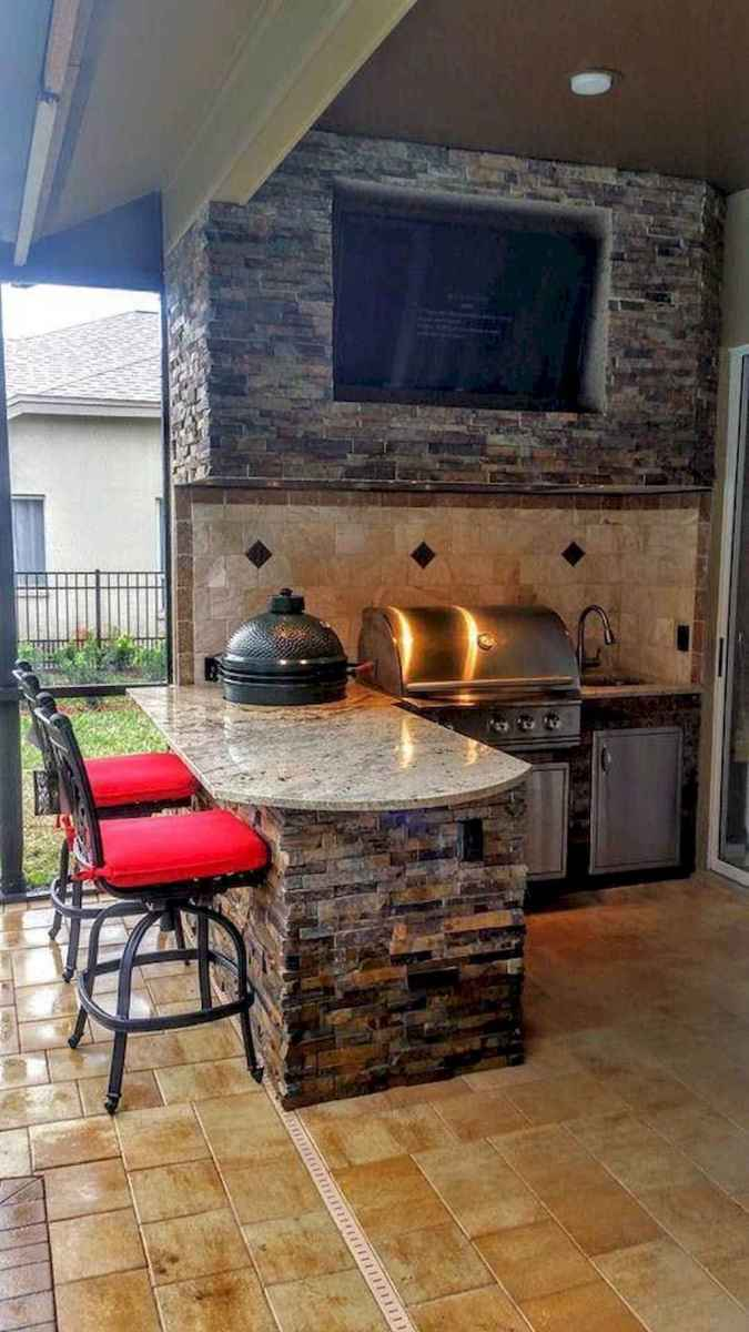 74 fantastic outdoor kitchen design for your summer ideas