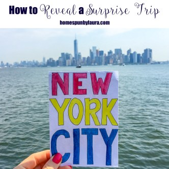 How to Reveal a Surprise Trip + Rediscovering my Love for Watercolors, d our Trip to NYC | Homespun by Laura | Create a scrapbook of photos or hand drawings as a gift to reveal a surprise birthday or Christmas trip!