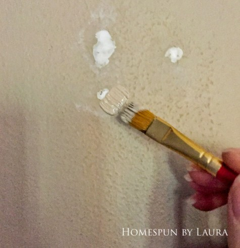 30 Projects in 30 Days | Spackle random holes in the wall | Homespun by Laura