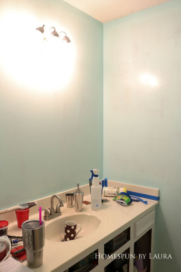 The $200 Master Bathroom Refresh | Homespun by Laura | Paint makes a big difference!