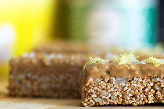Lemon Caramel and Amaranth ABC Bars (or: grown-up LCMs) - Homespun Capers