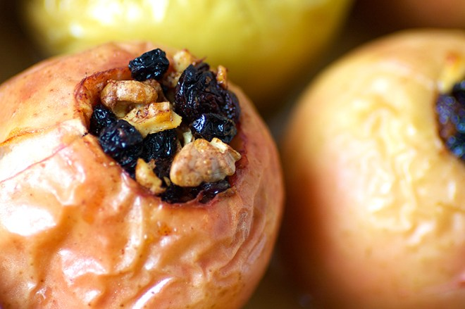Baked Apples with Sour Cherries and Walnuts - Homespun Capers