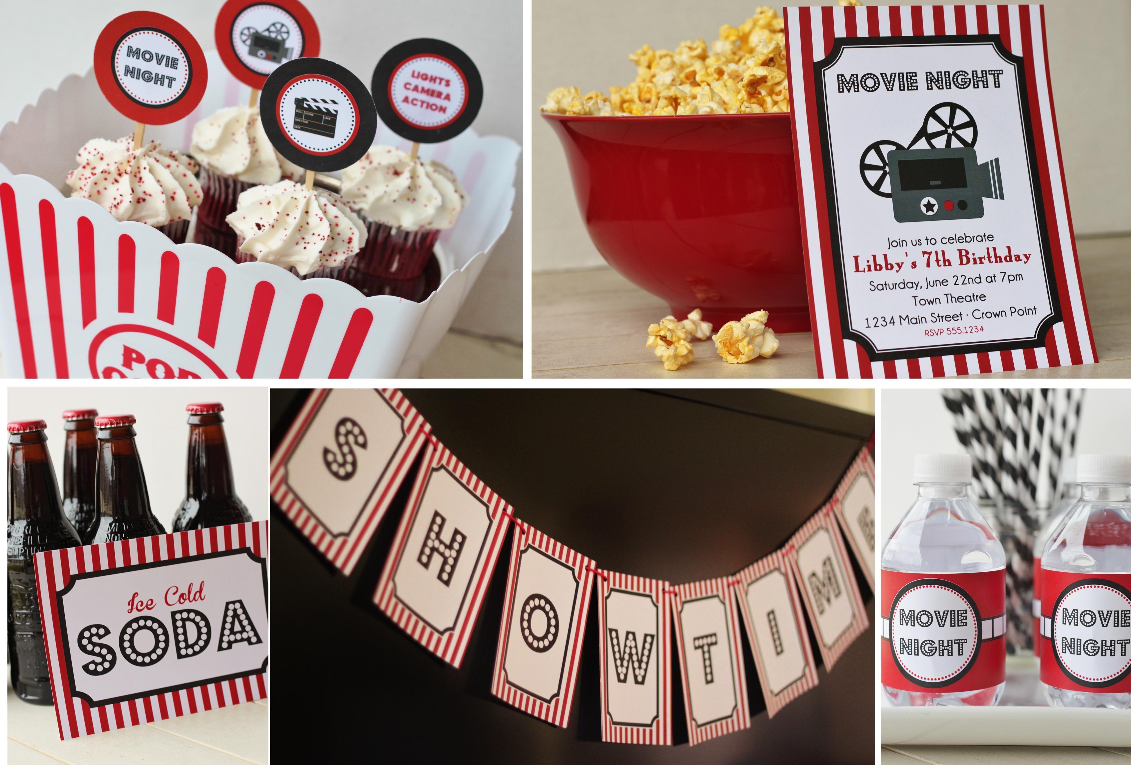 Movie Night Printable Party Set