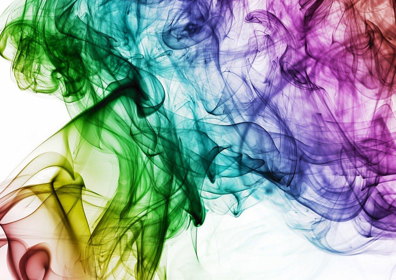 colour, smoke, rainbow