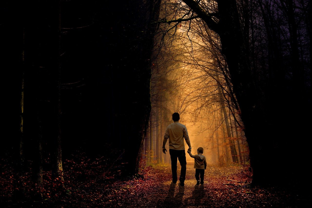 father, son, walking-2770301.jpg