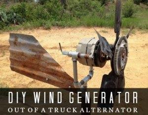 News Info: Making a wind generator with an alternator