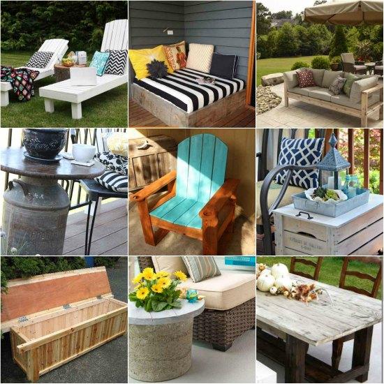18 DIY Patio Furniture Ideas For An Outdoor Oasis on Diy Garden Patio Ideas id=99670