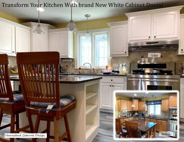 repaint cabinet doors white