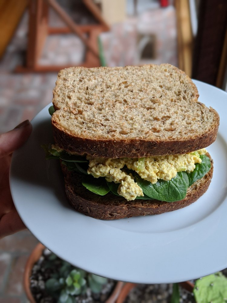high protein tofu sandwich so healthy recipe