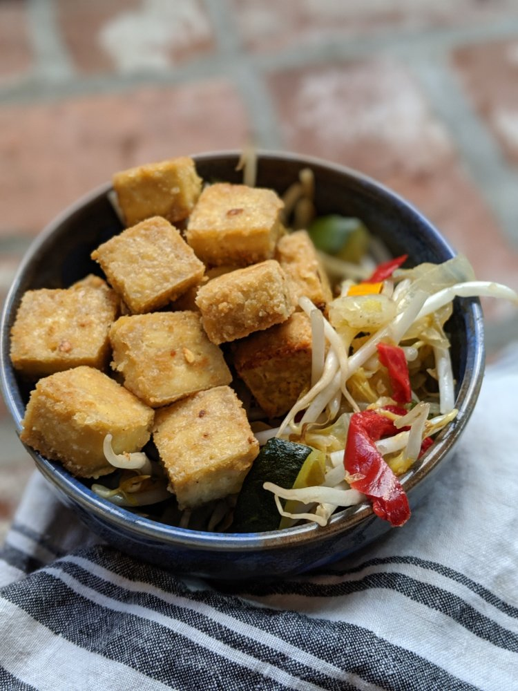 oven baked marinated healthy tofu recipe not fried baked