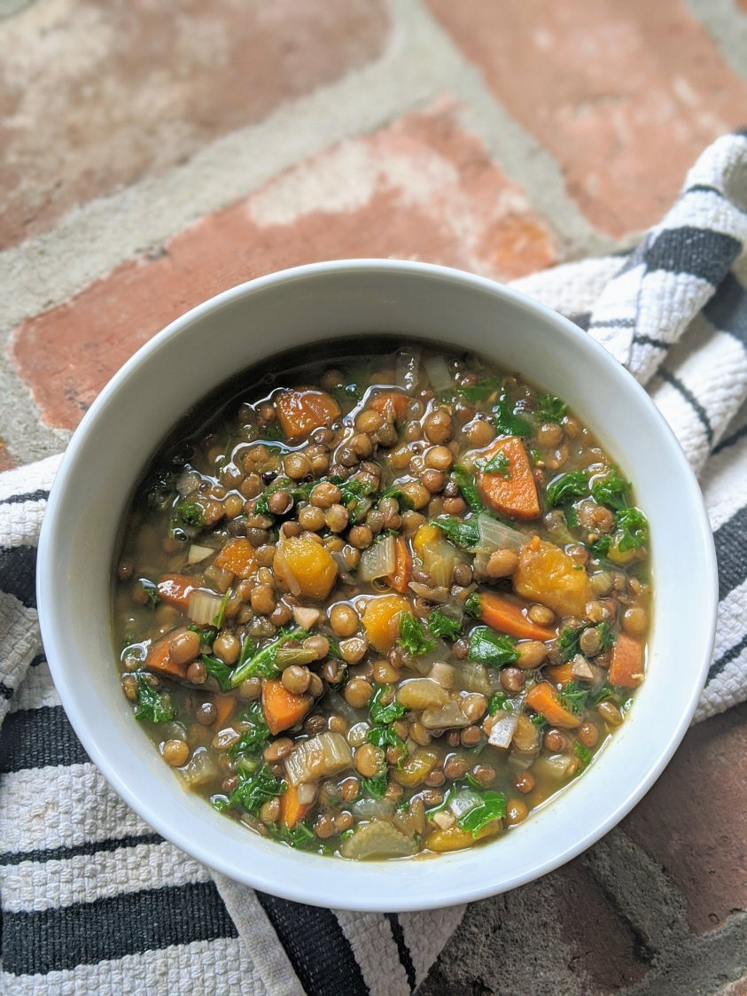 lentil soup easy lunch vegan gluten free detox