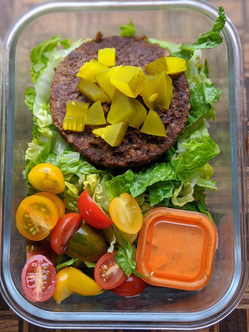 vegetarian big mac salad vegan meal prep salad recipes filling hearty high protein vegan meal prep salads