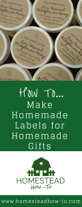 How to Make Homemade Labels for your Homemade Gifts
