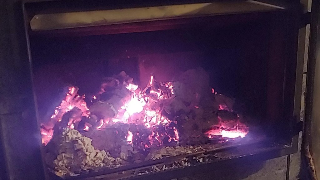 top down fire after four hours