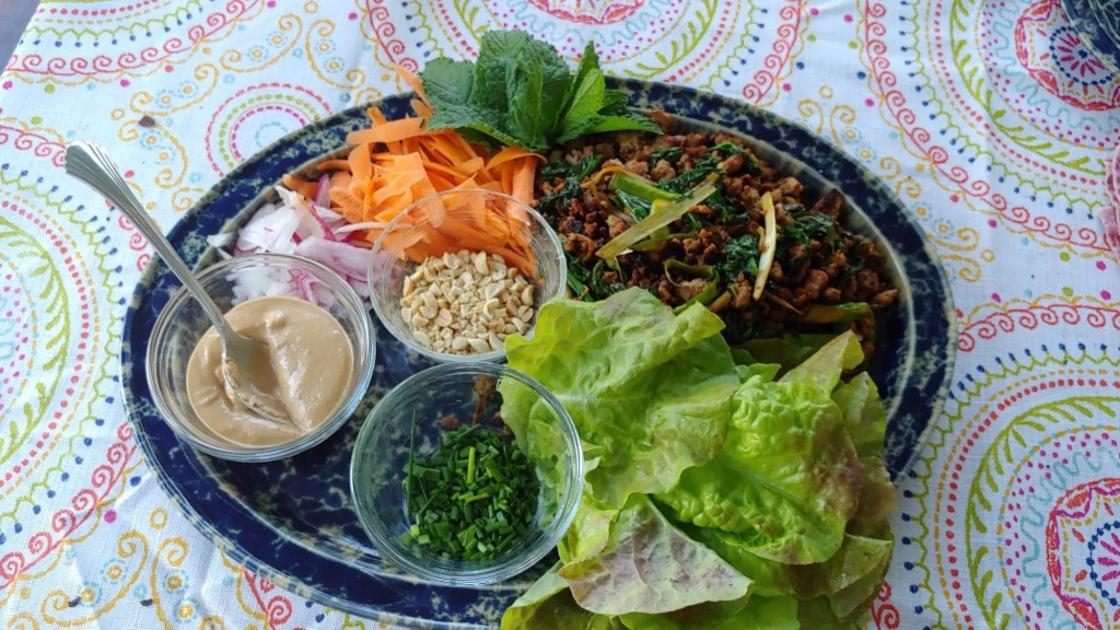 raddish in thai lettuce wraps