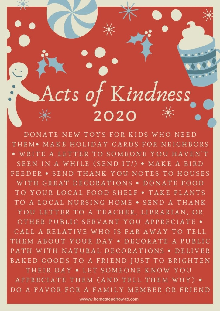 Acts of kindness for 2020