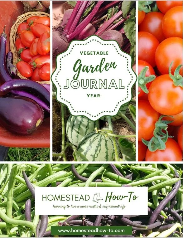 Vegetable garden Journal Cover Page