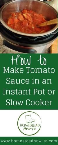 Instant Pot Tomato Sauce PIN