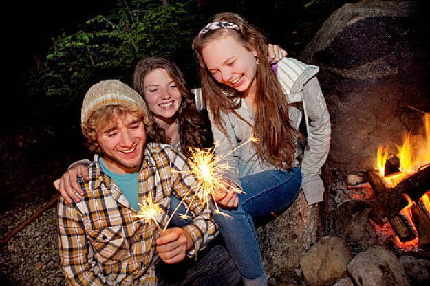 Lighting Sparklers | 15 Classical Fun Family Activities Around The Campfire