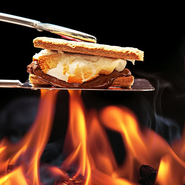 Roasting S'mores | 15 Classical Fun Family Activities Around The Campfire