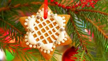 Close up to star decoration on Christmas tree | Stunning Homemade Christmas Ornaments You Can DIY On A Budget | Featured