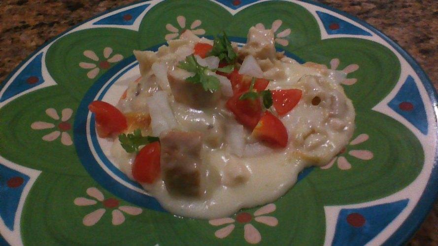 cheesy chicken tortilla bake 5