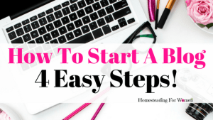 How To Start A Blog In Four Easy Steps