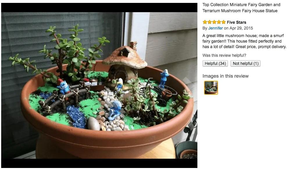 Smurf Fairy Garden