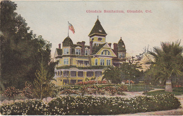 Postcard of Glendale Sanitarium, ca. 1910s.