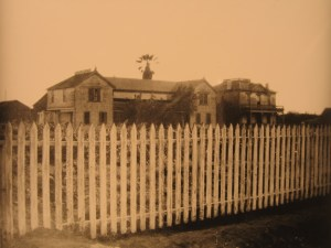 Temple adobe at Rancho La Merced, 1907.