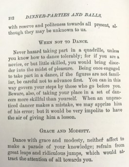 """Be sure to exhibit decorum when it comes to dancing. """"Decorum,"""" 1882. From the Homestead Museum collection."""