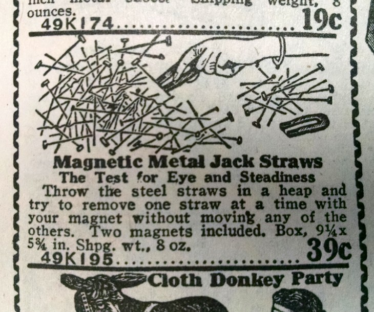 2 1927 Seards, Roebuck Catalogue - Magnetic Jack Straws