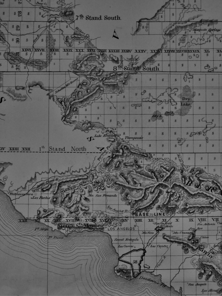 1858 public surveys map