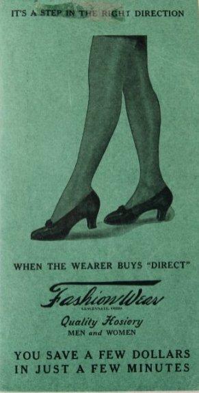 A fashion catalog for hosiery.