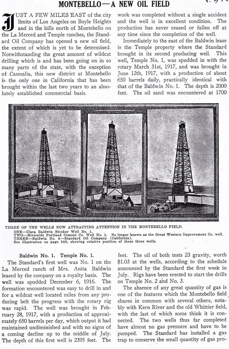 Montebello oil field Mining and Oil Bulletin Nov 1917