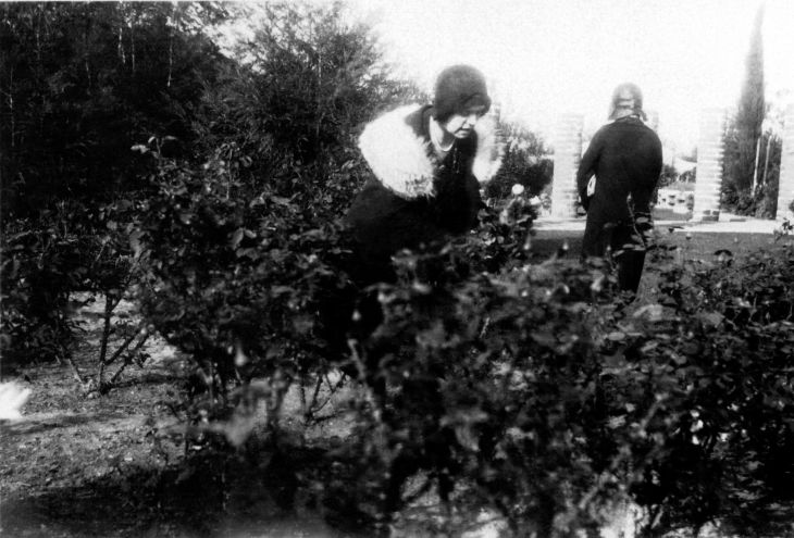 Two Unknown Women At La Casa Nueva's Rose Garden 96.7.27.6