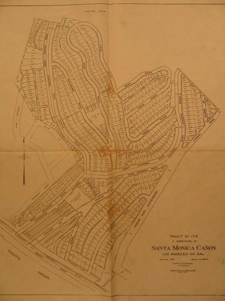 Santa Monica Canyon map