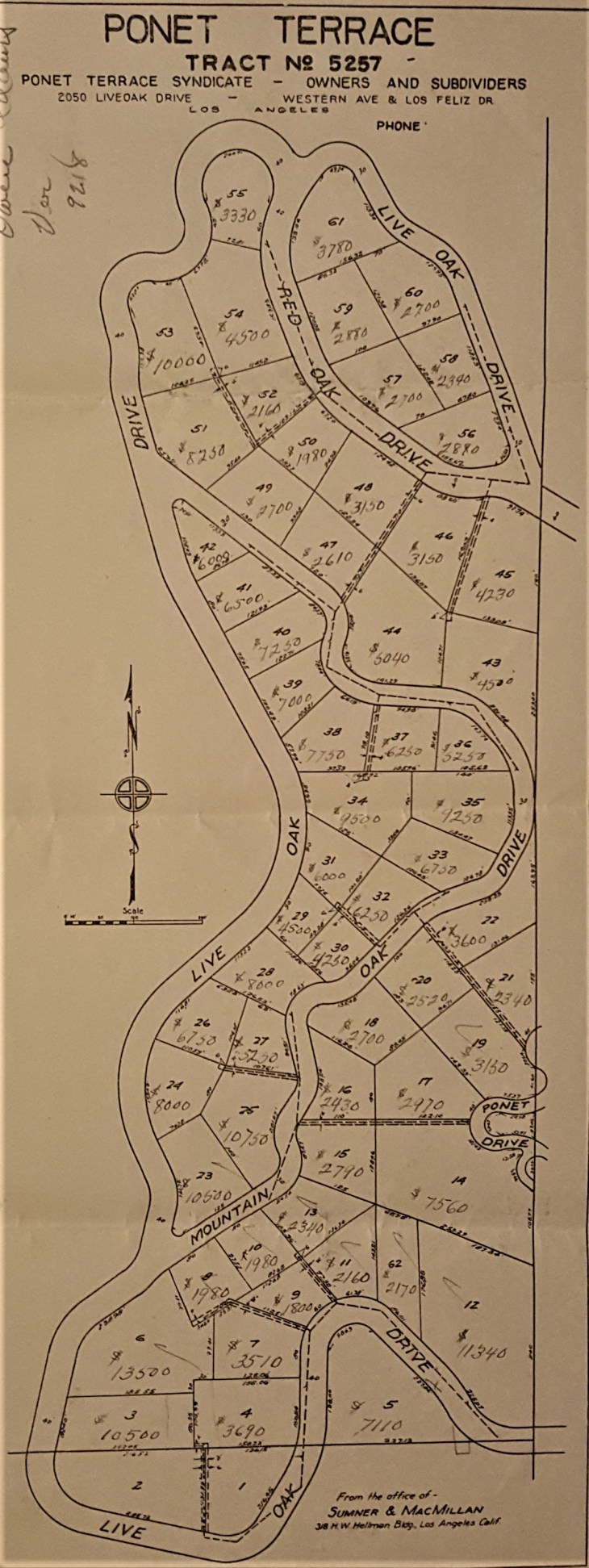 Ponet Terrace Tract Map 2