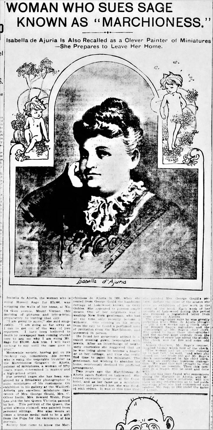 Isabella Sues Sage Evening_World_Jan_15__1902_