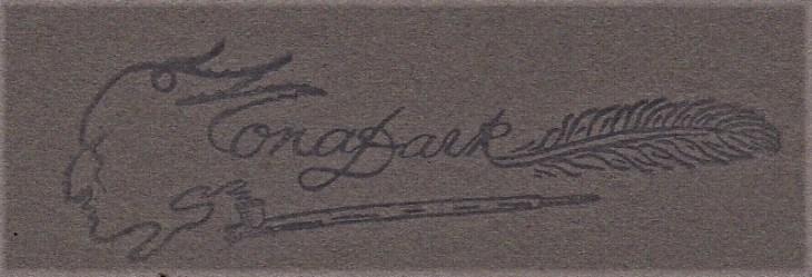 Princess Mona Darkfeather autograph photo reverse
