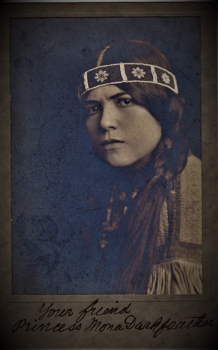 Princess Mona Darkfeather autograph photo