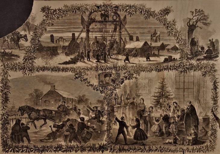 Christmas 1863 print Frank Leslie's