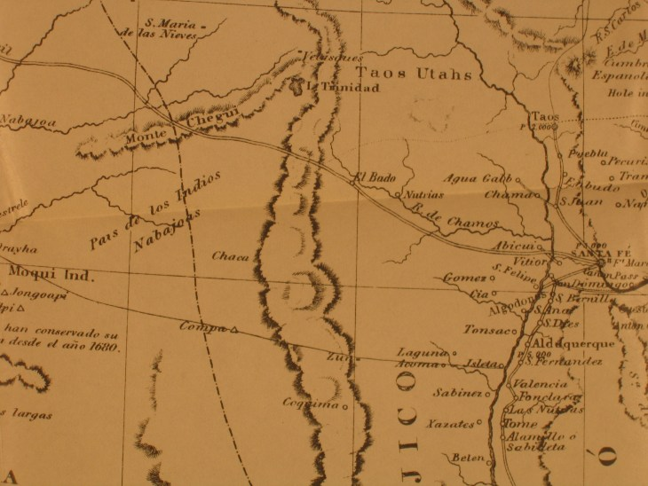 New Mexico Old Spanish Trail map