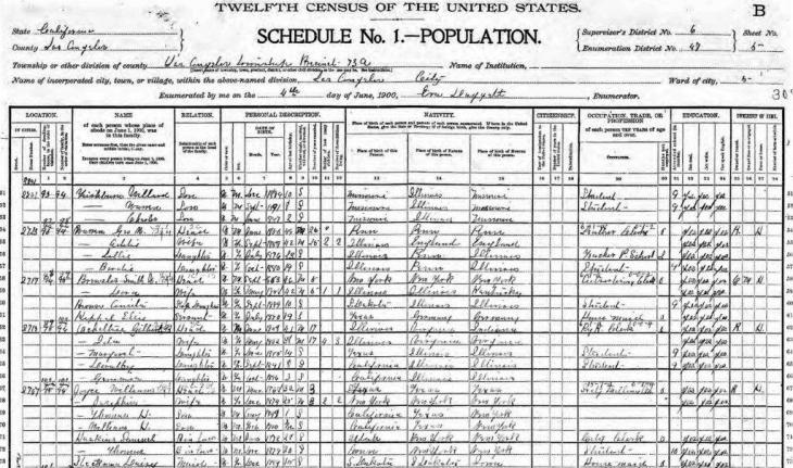 Haskins 1900 census LA